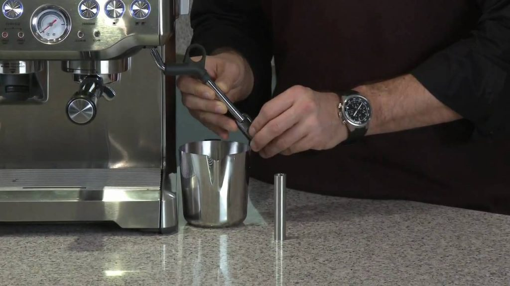 sage the barista express milk frother